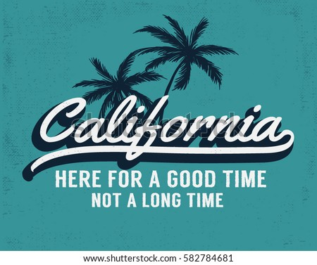 California vector illustration for t-shirt and other uses