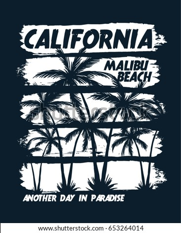 california vector illustration