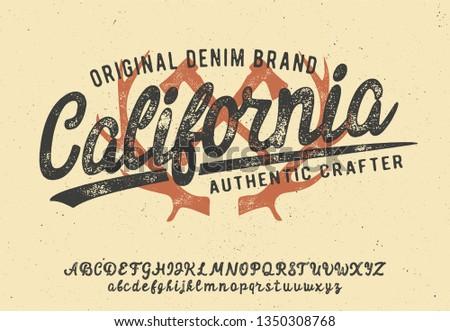 Retro t-shirt print design with a… Stock Photo 216534475
