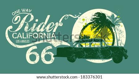 california vintage car rider
