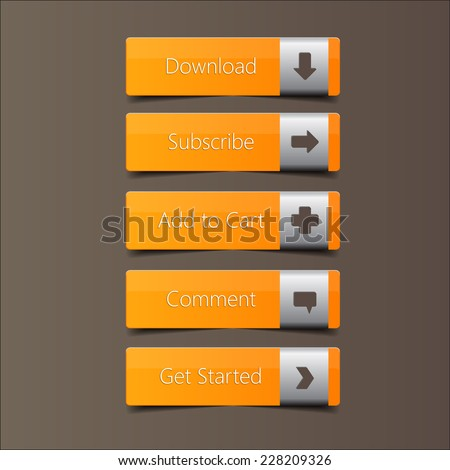 Call Action Button Metal Label, high quality button vector EPS10
