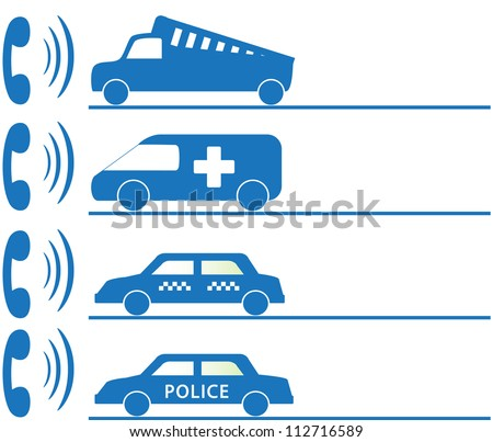 call board with sign for mobile social services first aid - stock vector