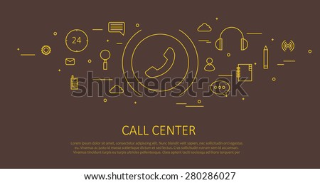 call center flat thin design