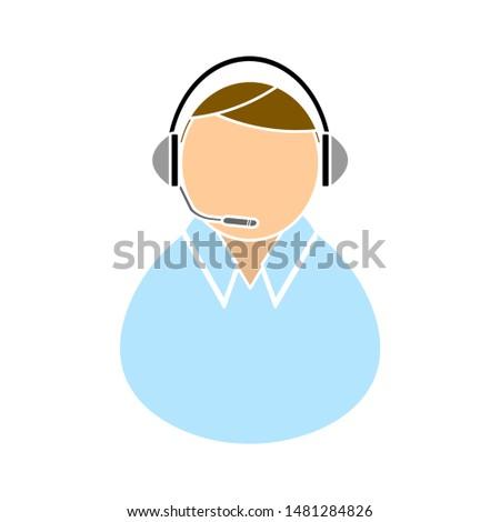 call center icon. flat illustration of call center vector icon. call center sign symbol