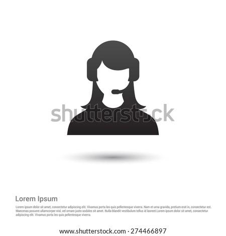 call center operator icon