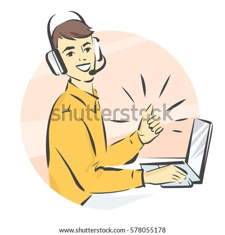 call center support  vector