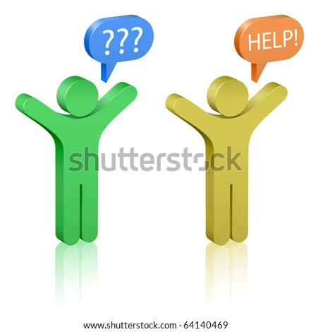 Call for Help. Social Media. Communication Concept. - stock vector