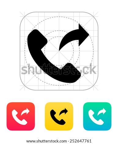 Call forwarding icon. Vector illustration.