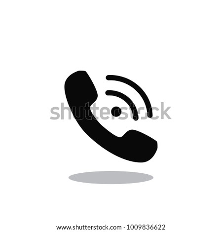 Call icon vector isolated on white background. Trendy call icon in flat style