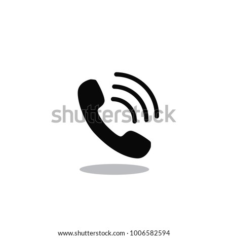 Call icon vector isolated on white background. Trendy call icon in flat style.Template for app, ui and logo. Icon call for your web site. Modern call icon, EPS 10