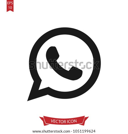 Call icon. Whats app line vector.Telephone sign isolated on white background.Simple telephone illustration for web and mobile platforms.