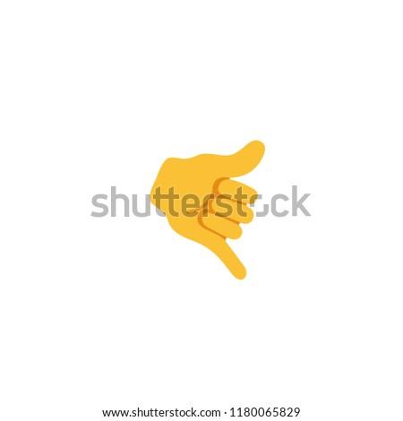 Call me hand vector flat illustration