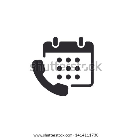 Call planner icon. Time Management icon. Business Concept. Calendar vector icon. Phone icon. Call schedule. Telephone sign. Call center. Calendar. Task Manager.
