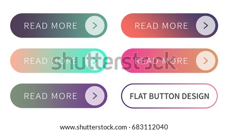 Call to action buttons set flat design ; Read more Button.Vector illustration buttons with colorful gradient or color transition for your brilliant Web button, mobile devices, icons, banner & more. #683112040