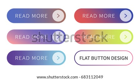 Call to action buttons set flat design ; Read more Button.Vector illustration buttons with colorful gradient or color transition for your brilliant Web button, mobile devices, icons, banner & more. #683112049