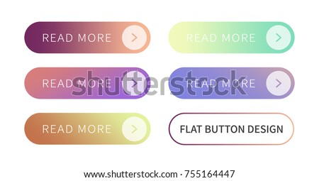 Call to action buttons set flat design ; Read more Button.Vector illustration buttons with colorful gradient or color transition for your brilliant Web button, mobile devices, icons, banner & more. #755164447