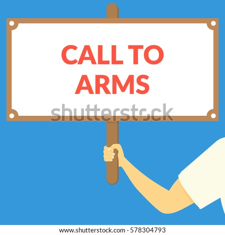 call to arms hand holding