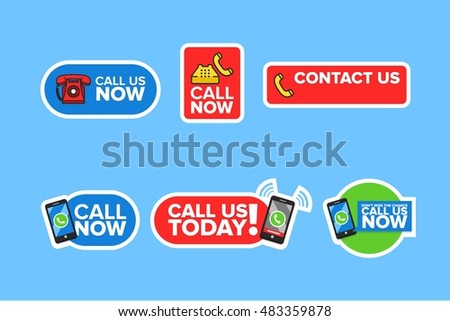 Call Us Now Icon Vector Graphics