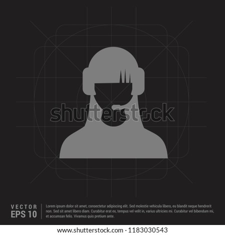 Call user icon - Black Creative Background - Free vector icon