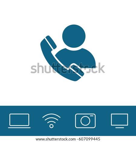 call  user vector icon