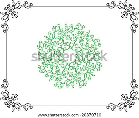Calligraphic Border, Frame, Center Piece Designs Stock ...  Shutterstock Border Design Free Download