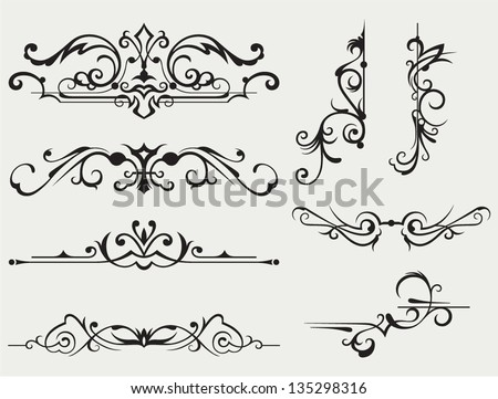 Calligraphic design element and page decoration