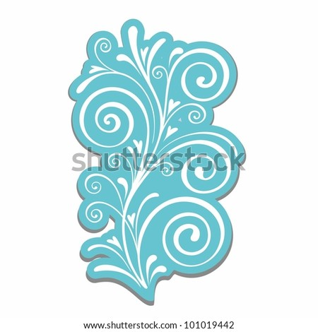 Calligraphic design. Floral element for decoration.