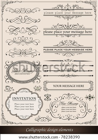 Calligraphic elements and page decoration