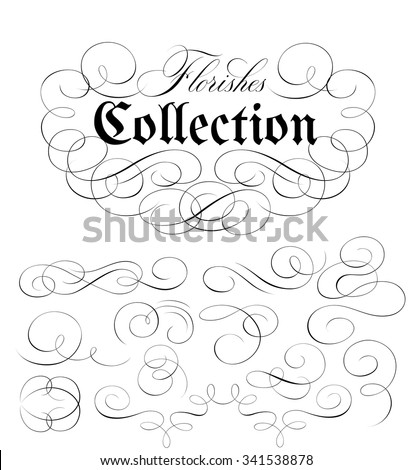 Calligraphic Florishes Collection
