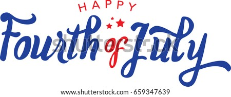 Calligraphic Fourth of July Vector Typography
