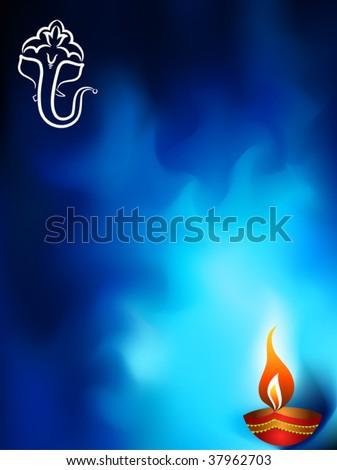 Calligraphic Ganesha Diwali design