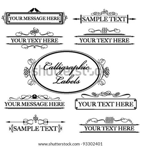 Calligraphic Labels