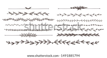 calligraphic leaf long text