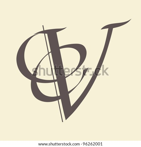 Calligraphic letter vector design