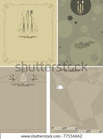 calligraphic menu card