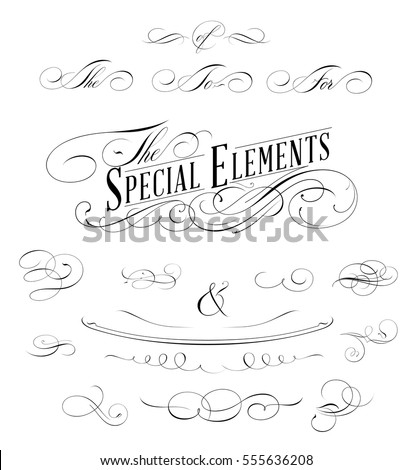 Calligraphic Page Decoration Elements Collection