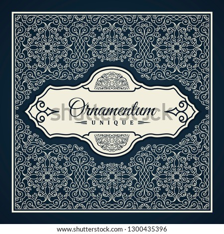 Calligraphic square Ornament Frame Lines. Restaurant menu. Luxury vintage ornate greeting card with typographic design. Retro invitations and royal certificates. Vector Flourishes illustration