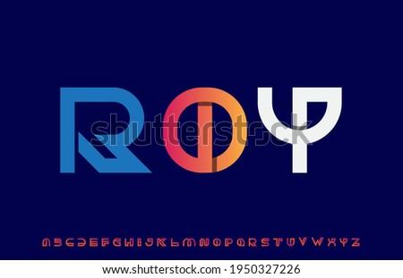 Calligraphy alphabet capital lettering a to z font family Stok fotoğraf ©