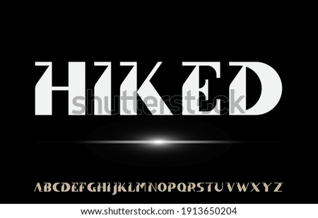 calligraphy alphabet capital lettering a to z font family on black bright background Stock fotó ©