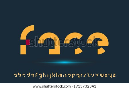 calligraphy alphabet small lettering a to z font family Foto stock ©