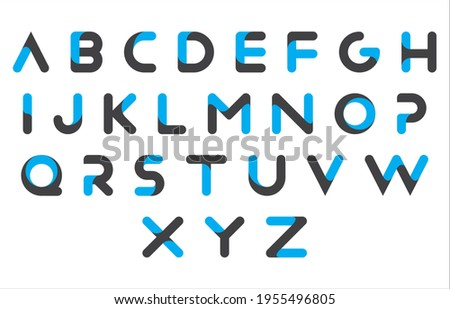 calligraphy 3d alphabet capital lettering a to z font family Stock fotó ©