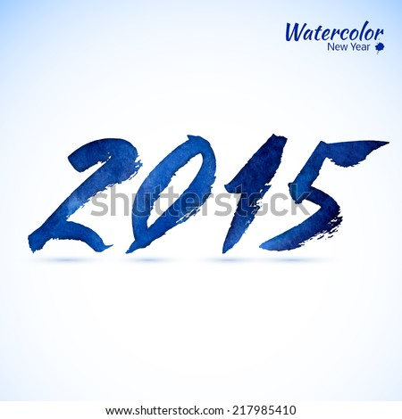 Calligraphy 2015 Happy New Year sign