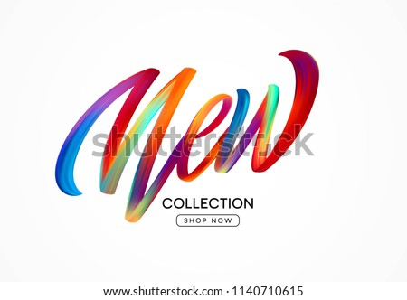 Calligraphy New collection. Colorful modern flow lettering. Vector illustration EPS10 Stok fotoğraf ©