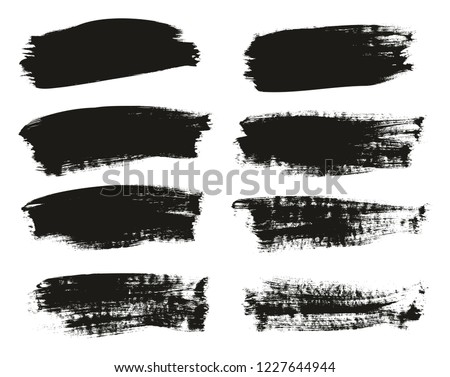 Calligraphy Paint Brush Background High Detail Abstract Vector Background Set 110 #1227644944