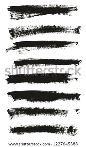 Calligraphy Paint Brush Background High Detail Abstract Vector Background Set 146 #1227645388