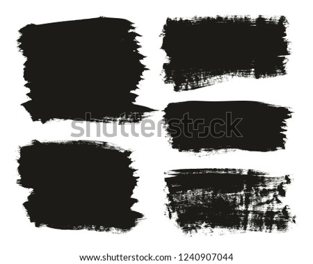 Calligraphy Paint Brush Background Mix High Detail Abstract Vector Background Set 11 #1240907044