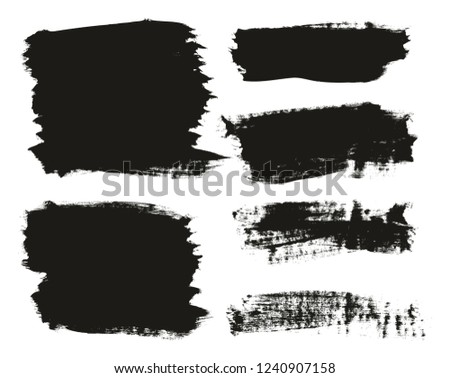 Calligraphy Paint Brush Background Mix High Detail Abstract Vector Background Set 43 #1240907158