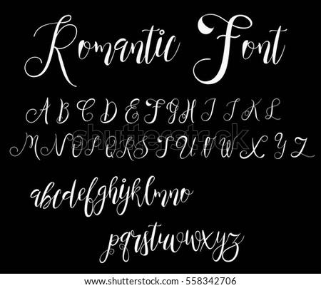 calligraphy tattoo alphabet