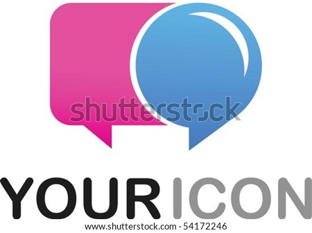 Callout shape (dialog box)  icon - stock vector