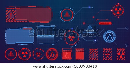 Callouts titles isolated background. Set of technology pattern for modern banners of lower third, presentation. Futuristic Danger and warning, countdown icons.  Interface elements HUD, UI, GUI. Vector